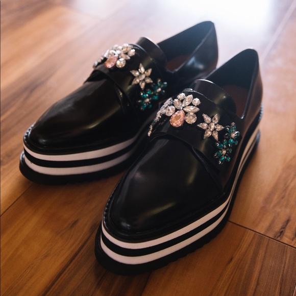 8e08b1e082e Platform derby shoes. NWT. Zara